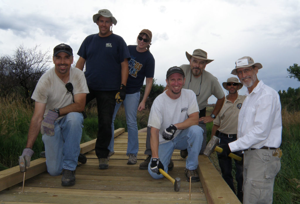 Lory State Park Trail Bridge Repair Team