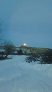 Moon rising over Lory State Park